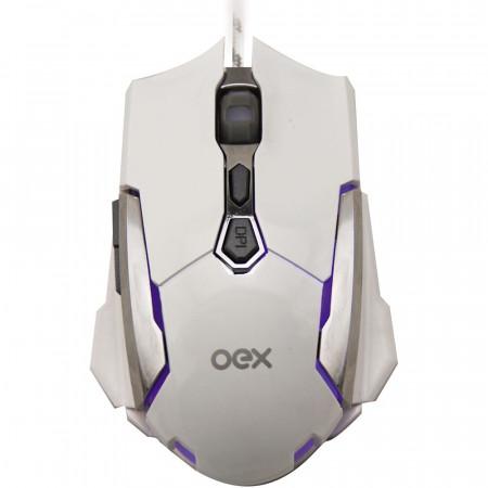MOUSE USB GAMER OEX ROBOTIC MS308 BRANCO