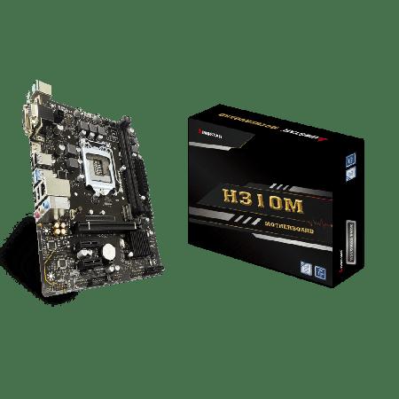 PLACA MÃE BIOSTAR INTEL 1151 9/8GEN H310MHD PRO2 2DDR4 M2 NVME USB3 HDMI VGA DVI